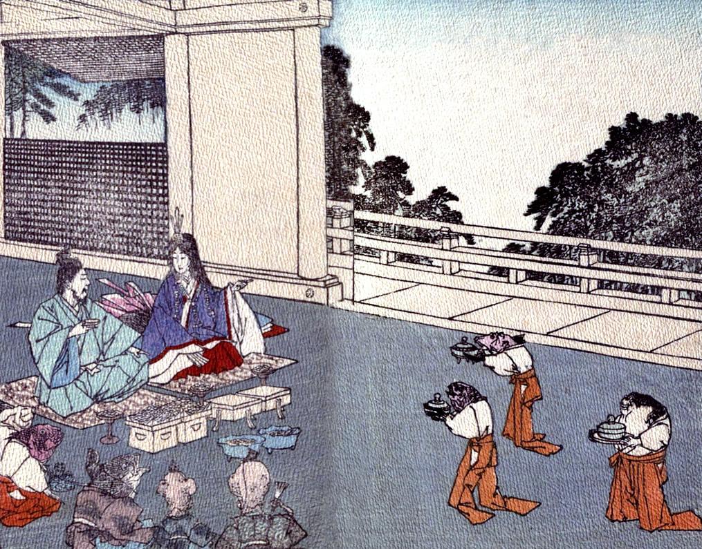 Цели три години Урашима и принцесата живели щастливо.